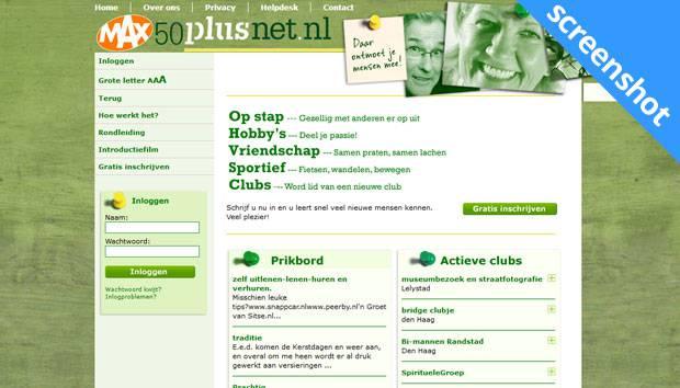 50PlusNet.nl screenshot