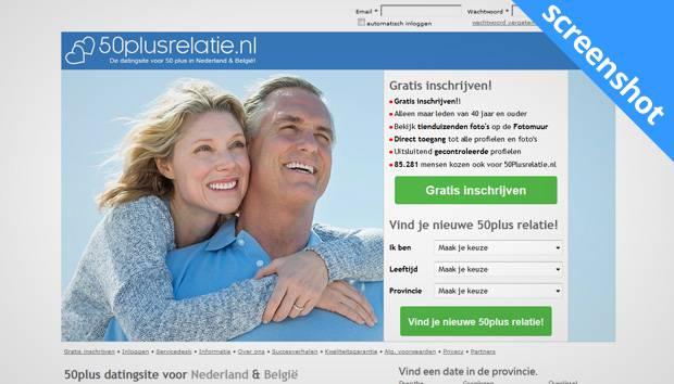 50PlusRelatie.nl sceenshot