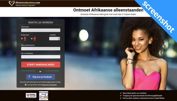 AfroIntroductions.com screenshot
