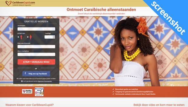 CaribbeanCupid.com screenshot