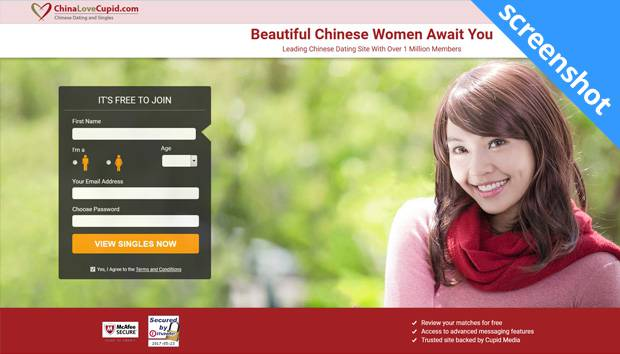 ChinaLoveCupid.com screenshot
