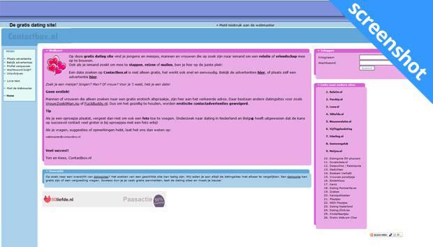 Contactbox.nl screenshot