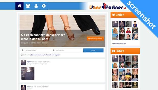 Danspartner.nl screenshot
