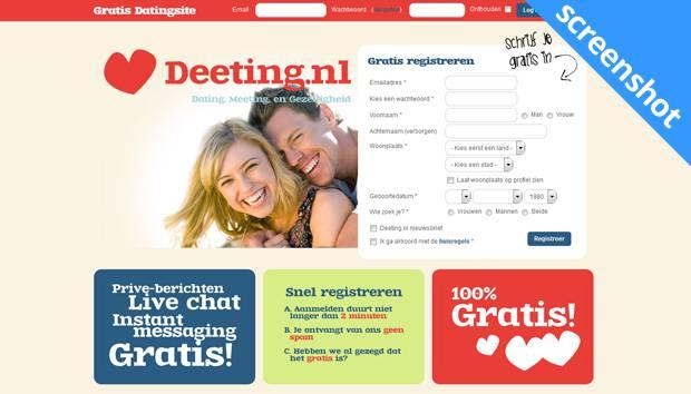 Deeting.nl screenshot