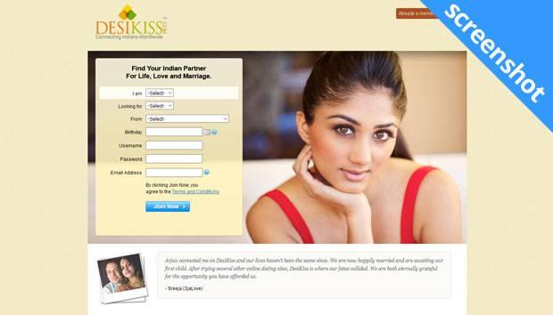 DesiKiss.com screenshot