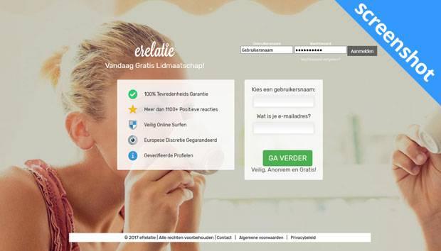 eRelatie.com screenshot