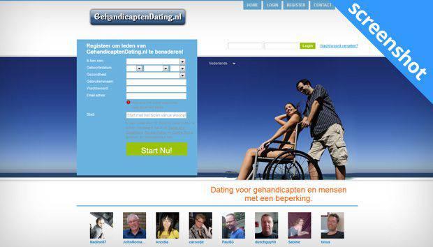 GehandicaptenDating.nl screenshot