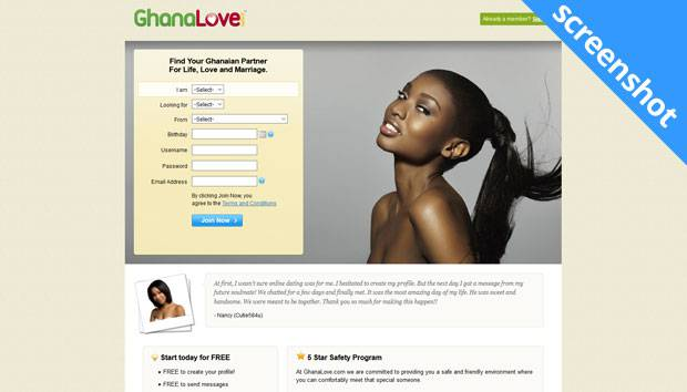 GhanaLove.com screenshot