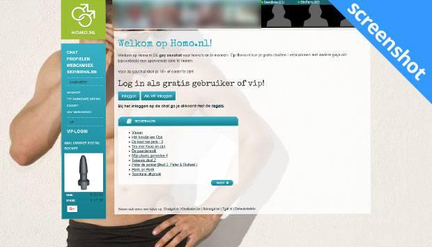 Homo.nl screenshot