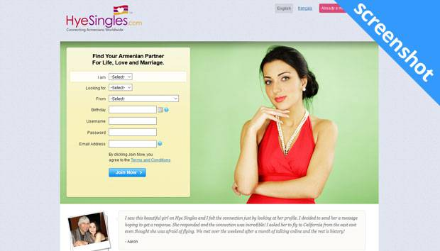 HyeSingles.com screenshot