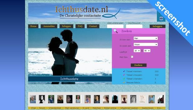 Ichtusdate.nl screenshot