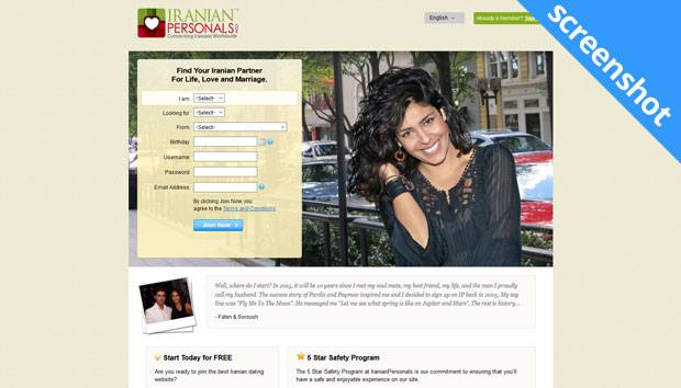 IranianPersonals.com screenshot