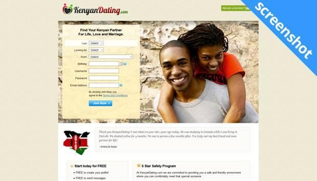 KenyanDating.com screenshot