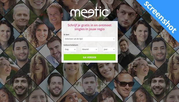 Meetic.be screenshot