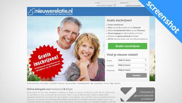 NieuweRelatie.nl screenshot