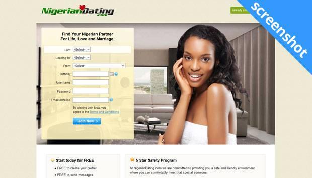 NigerianDating.com screenshot