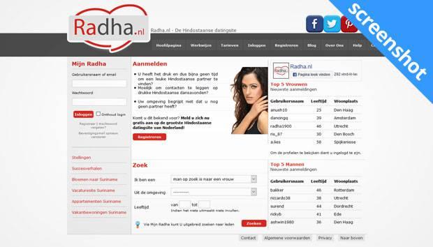 Radha.nl screenshot