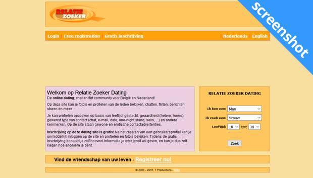 Relatie Zoeker screenshot