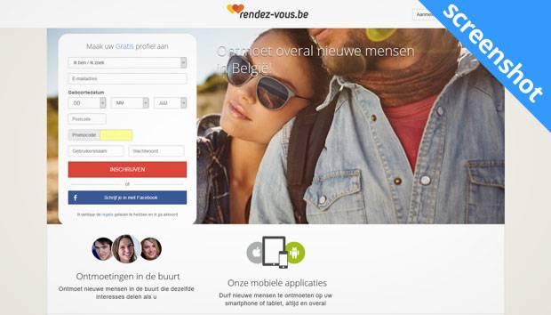 Rendez-Vous.be screenshot