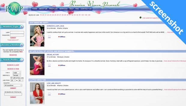 Russian Women Personals screenshot