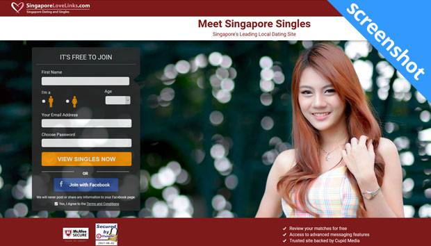 SingaporeLoveLinks.com screenshot