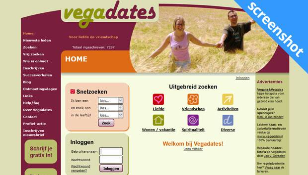Vegadates screenshot