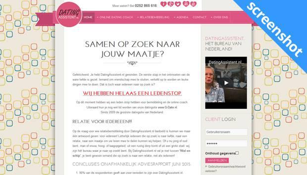 DatingAssistent.nl screenshot