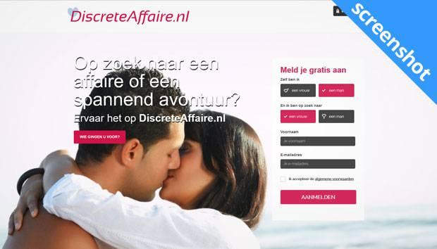 DiscreteAffaire.nl screenshot