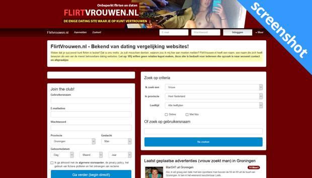 FlirtVrouwen.nl screenshot