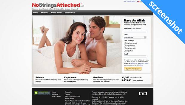 NoStringsAttached.com screenshot