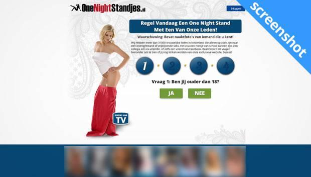 OneNightStandjes.nl screenshot