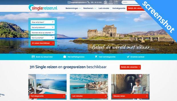 singlereizen.nl screenshot