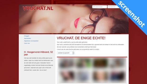 Vrijchat.nl screenshot