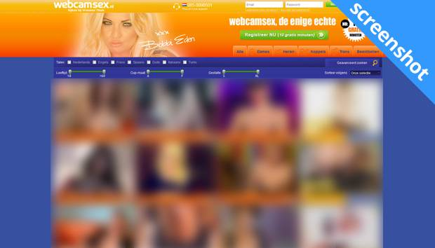 Webcamsex.nl screenshot