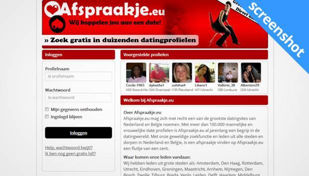 Afspraakje.eu screenshot