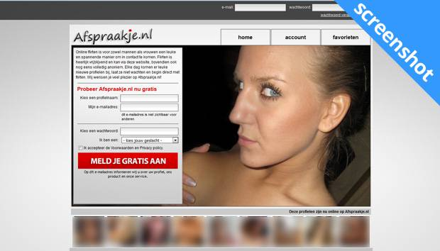 Afspraakje.nl screenshot