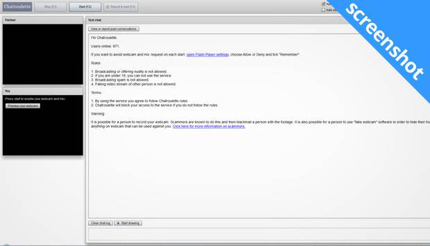 chatroulette screenshot