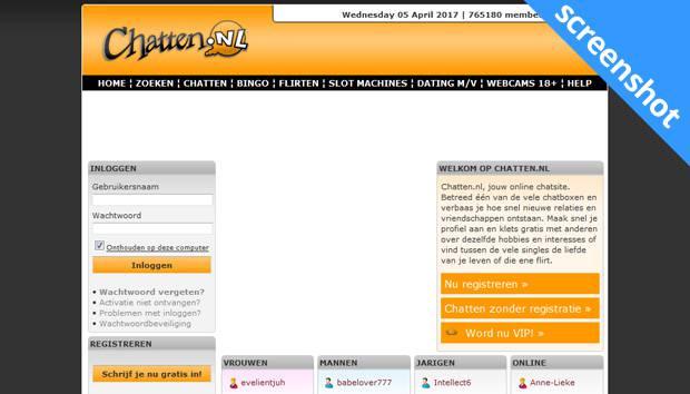 Chatten.nl screenshot