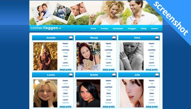 ContactLeggen.nl screenshot