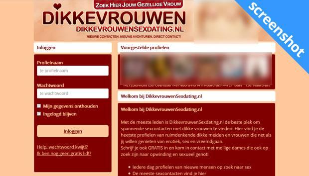 DikkeVrouwenSexDating.nl screenshot