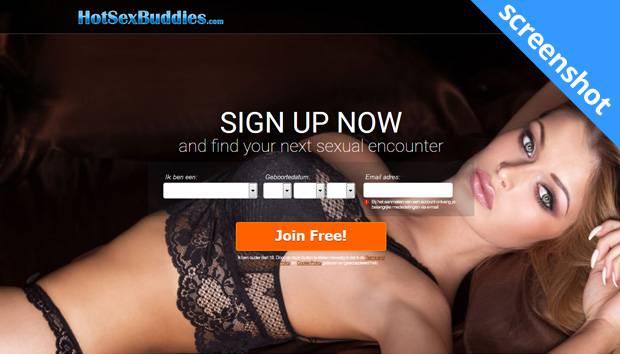 Hotsexbuddies.com screenshot