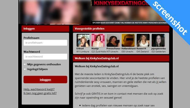 Kinkysexdatingclub.nl screenshot