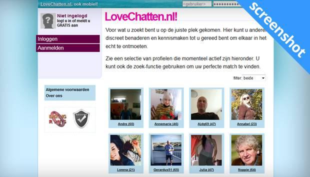 LoveChatten.nl screenshot