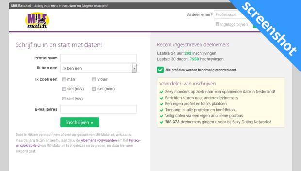 Milf-Match.nl screenshot