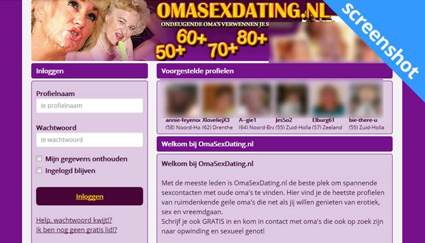 Omasexdating.nl screenshot