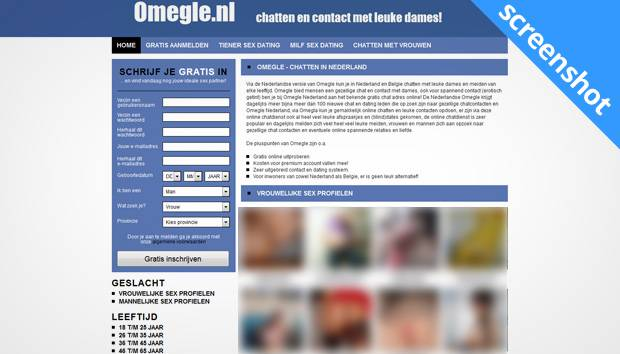Omegle.nl screenshot