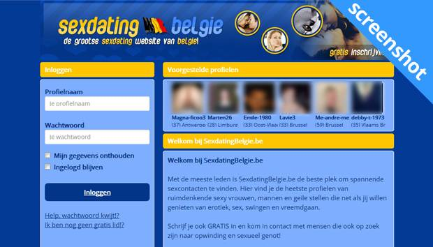 Sexdating Belgie screenshot