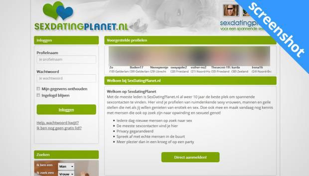 sexdatingplanet.nl screenshot