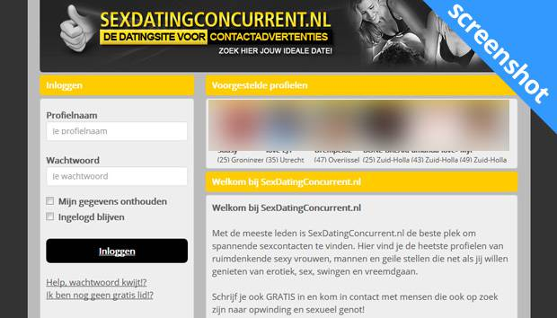 Sexdatingconcurrent.nl screenshot