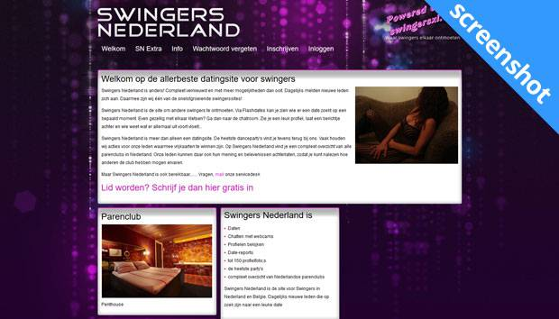 Swingers Nederland screenshot